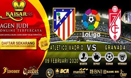 PREDIKSI BOLA TERPERCAYA ATLETICO MADRID VS GRANADA 09 FEBRUARI 2020