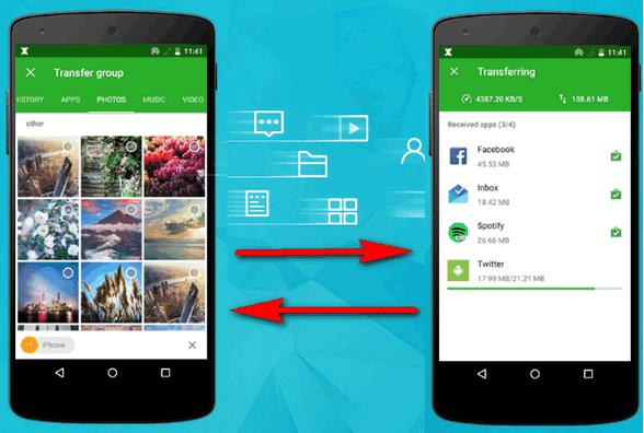 تطبيق زيندر لنقل و مشاركة الملفات بين هواتف الاندرويد xender