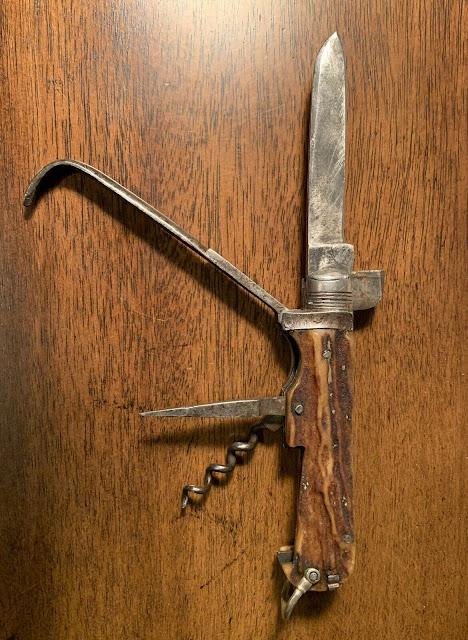 Antique Rare 1800s Knivmagasine SHEFFIELD FOX HUNTING Farriers EQUESTRIAN KNIFE