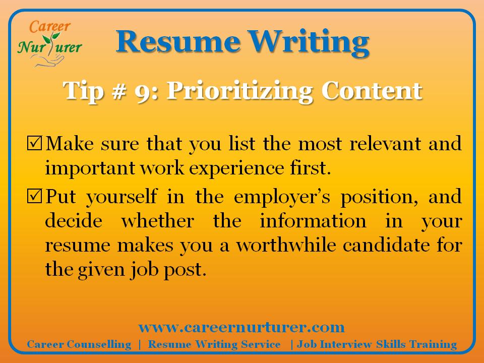 Digest resume writer