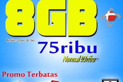 Paket Promo Telkomsel 8GB 75rb 24 Jam 30 Hari