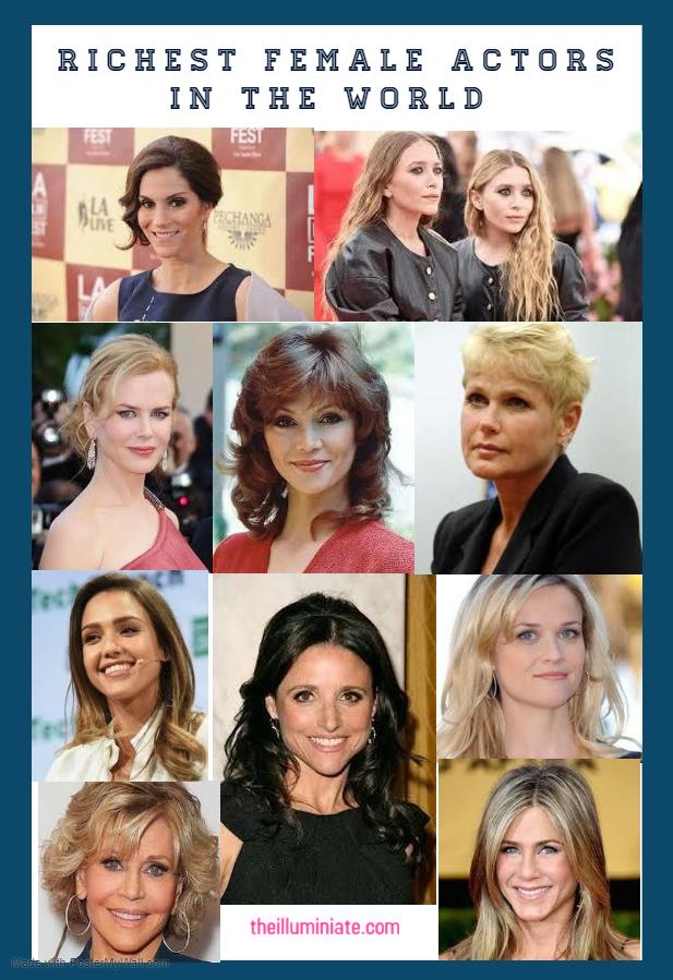 TOP TEN RICHEST FEMALE ACTORS IN THE WORLD