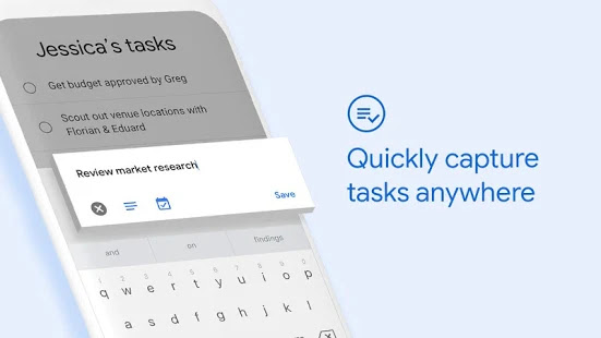 تطبيق تعدد المهام الجديد Tasks من جوجل