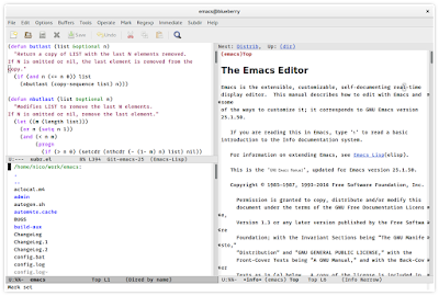 Emacs example screenshot