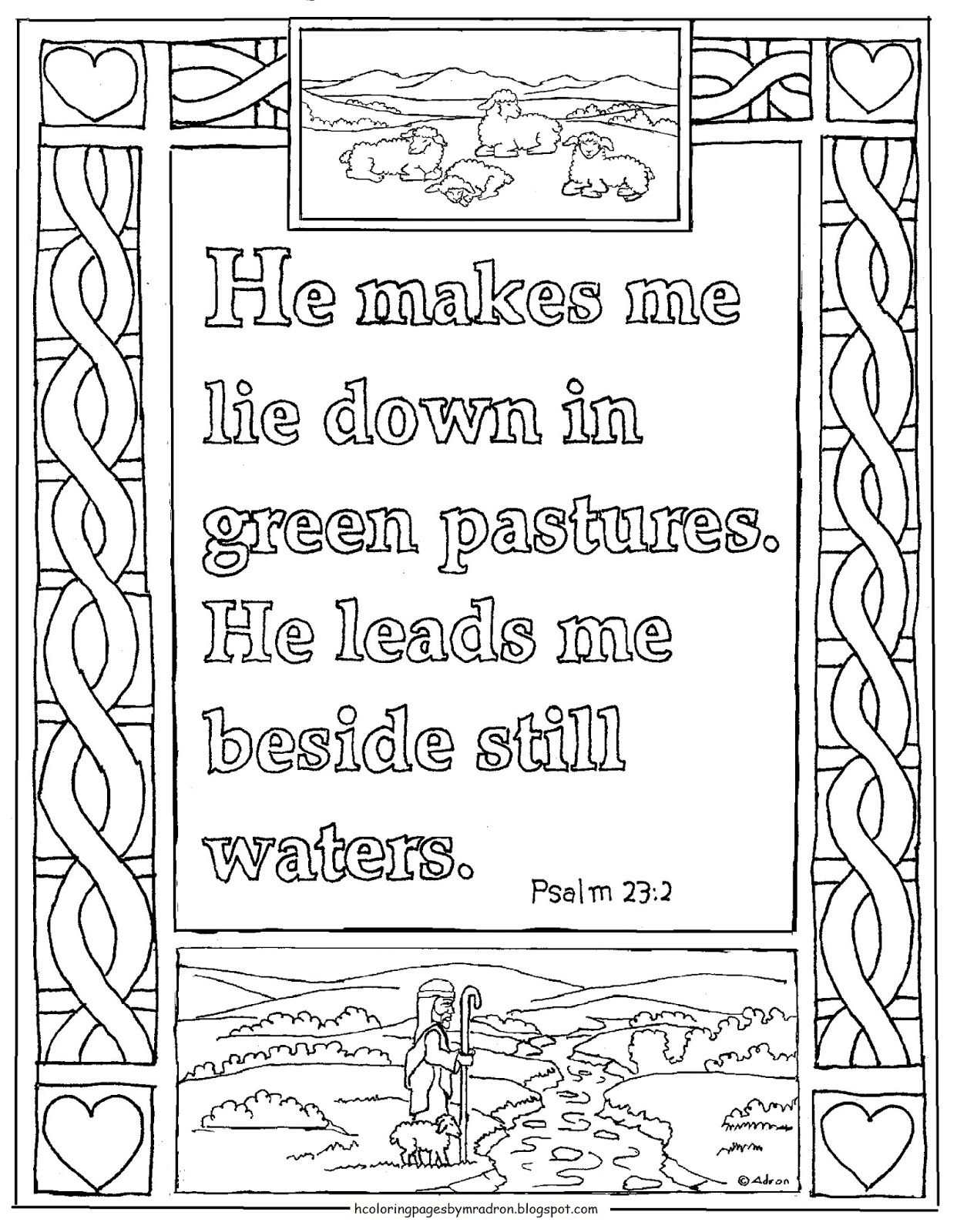Free Printable Psalm 23 Booklet For The Child To