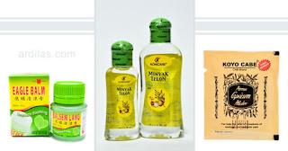 Balsem, minyak telon, koyo - Tips Cara Mengatasi Atau Mengobati Masuk Angin di Perut