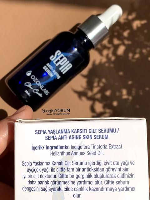 ozonlabs sepia anti aging serum içeriği