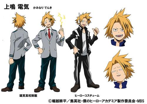 desain-karakter-untuk-denki-kaminari-eijiro-kirishiima-diperlihatkan