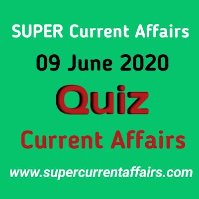 9 June 2020 Current Affairs Quiz in Hindi