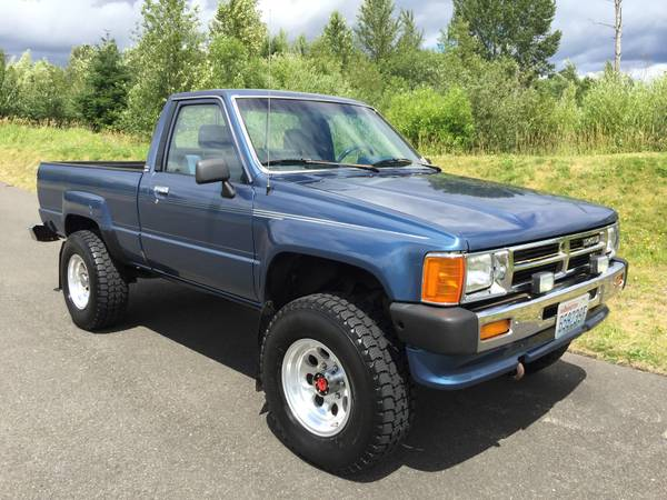 1988 toyota 4x4 single cab pickup truck for sale 11 900 under 50k original miles. Black Bedroom Furniture Sets. Home Design Ideas