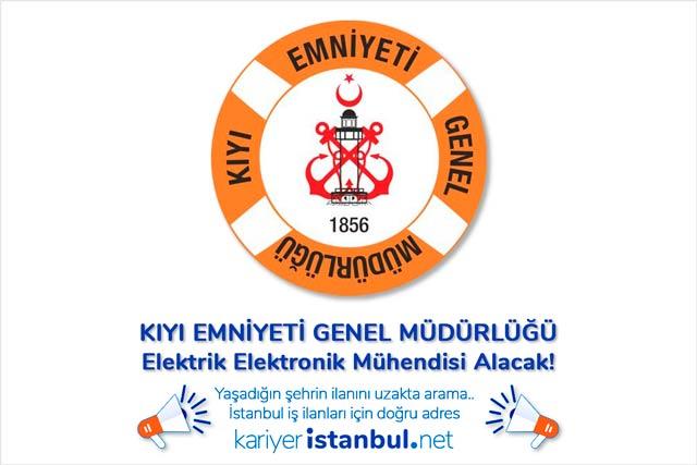 Kıyı Emniyeti Genel Müdürlüğü İstanbul'da sürekli kamu işçisi statüsünde elektrik elektronik mühendisi personel alımı yapacak. Detaylar kariyeristanbul.net'te!