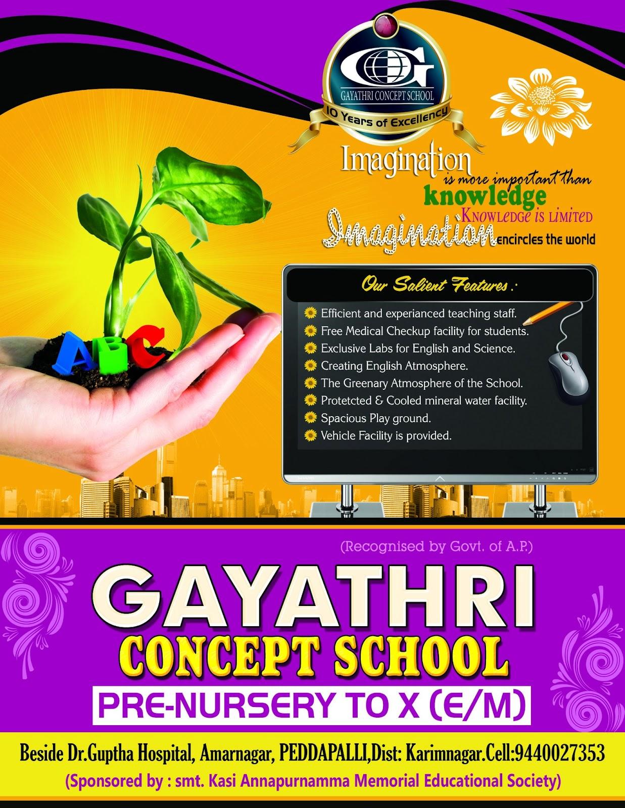 gayatri school brochure psd design