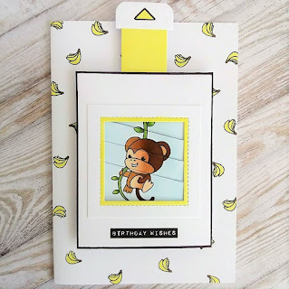Interactive card with Magic Picture changer from Lawn Fawn