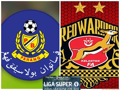 Live Streaming Pahang vs Kelantan Liga Super 10 Februari 2018