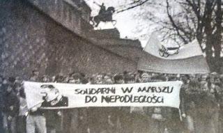 Manifestacja KPN - Kraków 1984
