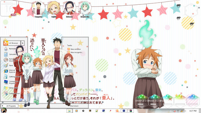 Demi-chan wa Kataritai Theme Win 7 by Enji Riz Lazuardi