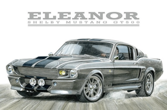 muscle car collection 1967 shelby mustang gt500 eleanor. Black Bedroom Furniture Sets. Home Design Ideas