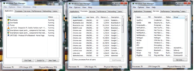 Close all application running background, Increase your computer speed
