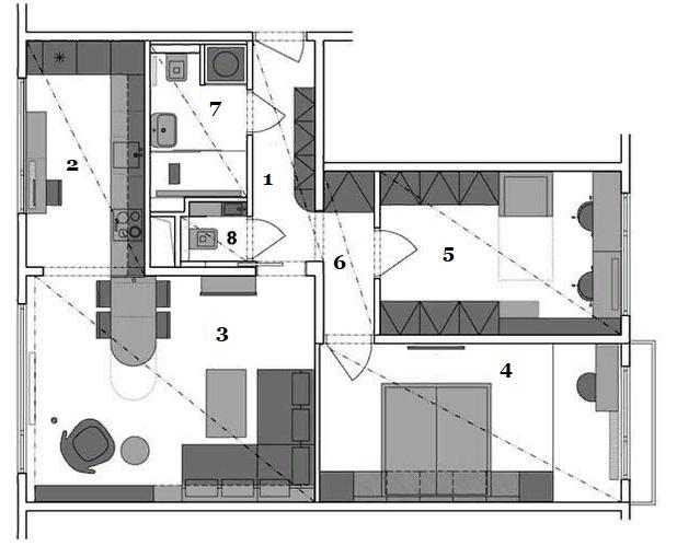Из классической панельной квартиры сделали белый оазис во временном стиле