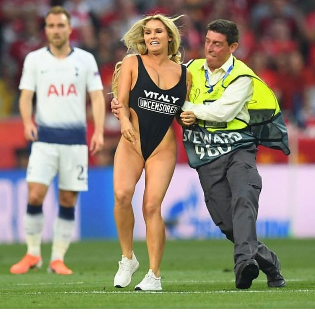 Streaker Kinsey Wolanski issued Champions League gift after Madrid ejection