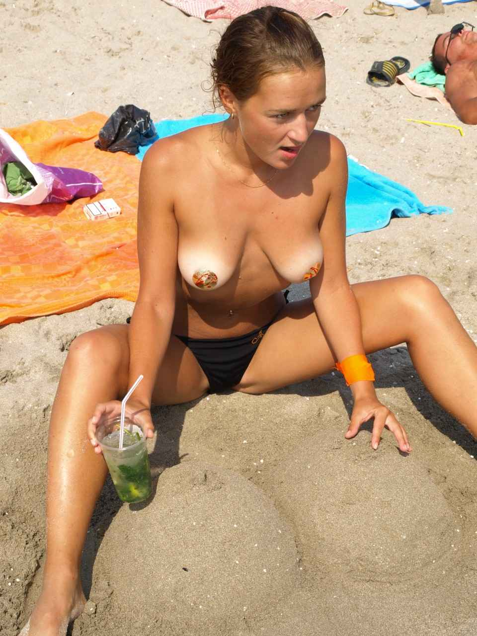 Teen Tits At The Beach