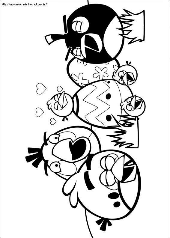 Desenhos para pintar e imprimir do angry birds imprimir - Dessin de angry birds ...
