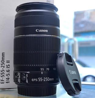 Lensa Canon EFS 55-250mm IS 2 Fullset Second