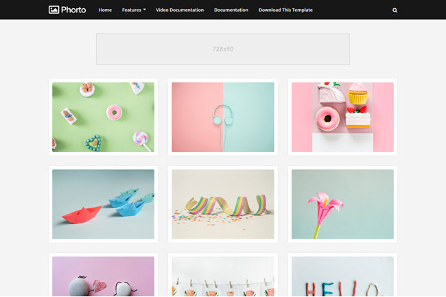 Phorto – Responsive Gallery Blogger Template