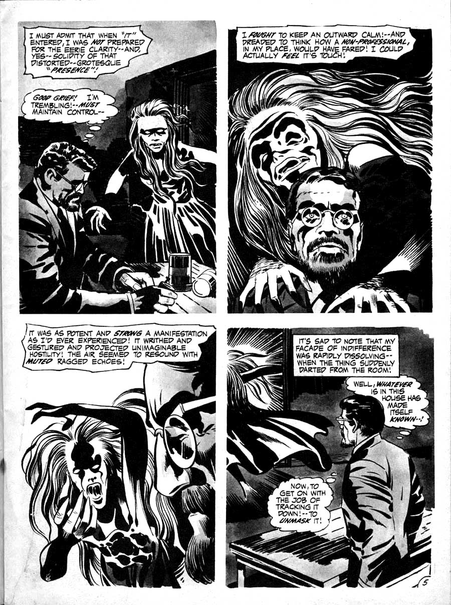 Spirit World v1 #1 comic book magazine page art by Jack Kirby