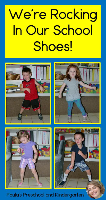 "See how this teacher had her kids ""Rocking In Their School Shoes"" like Pete, and how to turn it into a class book. Perfect for back to school!"