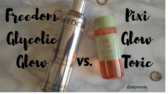 Glow Tonic Pixi vs Freedom Glycolic Tonic 7