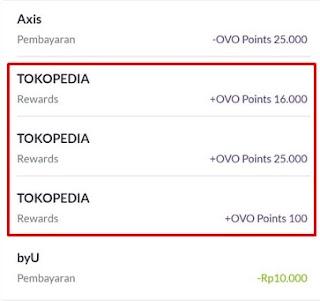 Point Cashback OVO Dari Tokopedia