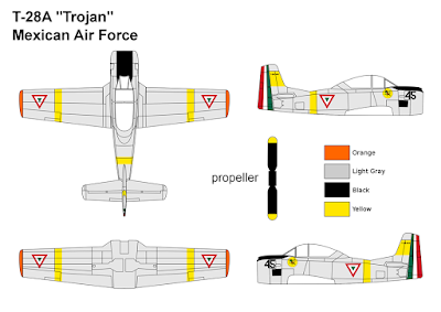 T-28A Trojan Mexican Air Force