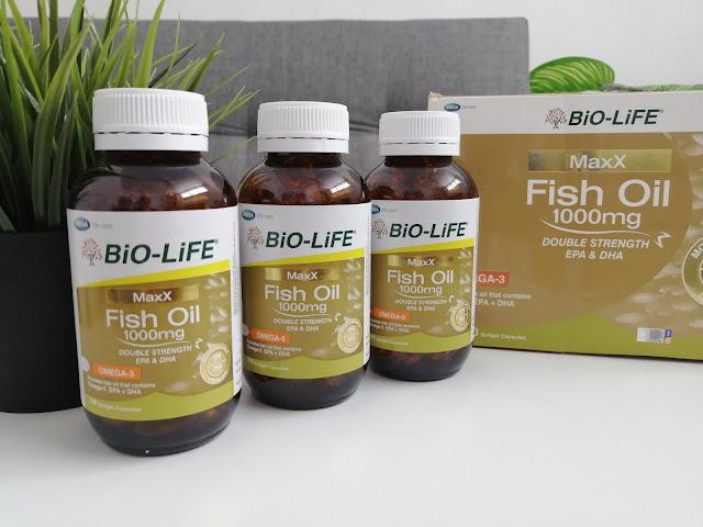 BiO-LiFE MaxX Fish Oil 1000mg Double Strength Baik Untuk Jantung, Otak dan Mata