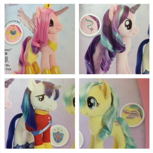 Aurora Shining Armor, Cadance, Coco Pommel, and Starlight Glimmer merchandise mlp