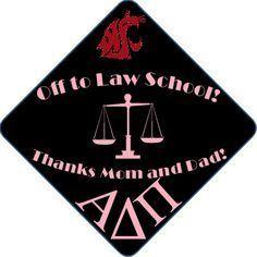 Law School Bound Grad Caps   brazenandbrunette.com