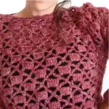 Sweater Calado a Crochet
