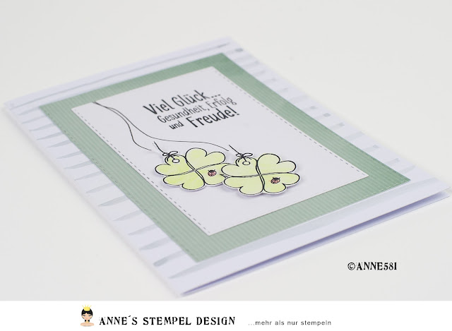 Glückwunschkarten selber machen sind kein Hexenwerk mit Spruchstempeln von Annes Stempel Design