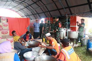 DANREM 063/SGJ Kunjungi Posko Penanggulangan Bencana Terpadu Kab Karawang