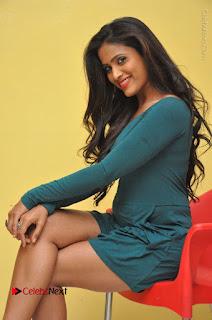 Telugu Actress Prasanthi Stills in Green Short Dress at Swachh Hyderabad Cricket Press Meet  0063.JPG
