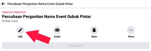 Mengubah Nama Acara Facebook Melalui HP