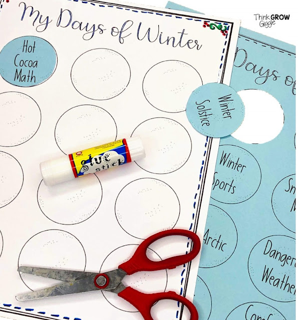 winter countdown activities for kids