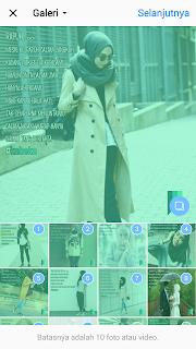 Bagaimana Membuat foto Slide di Instagram