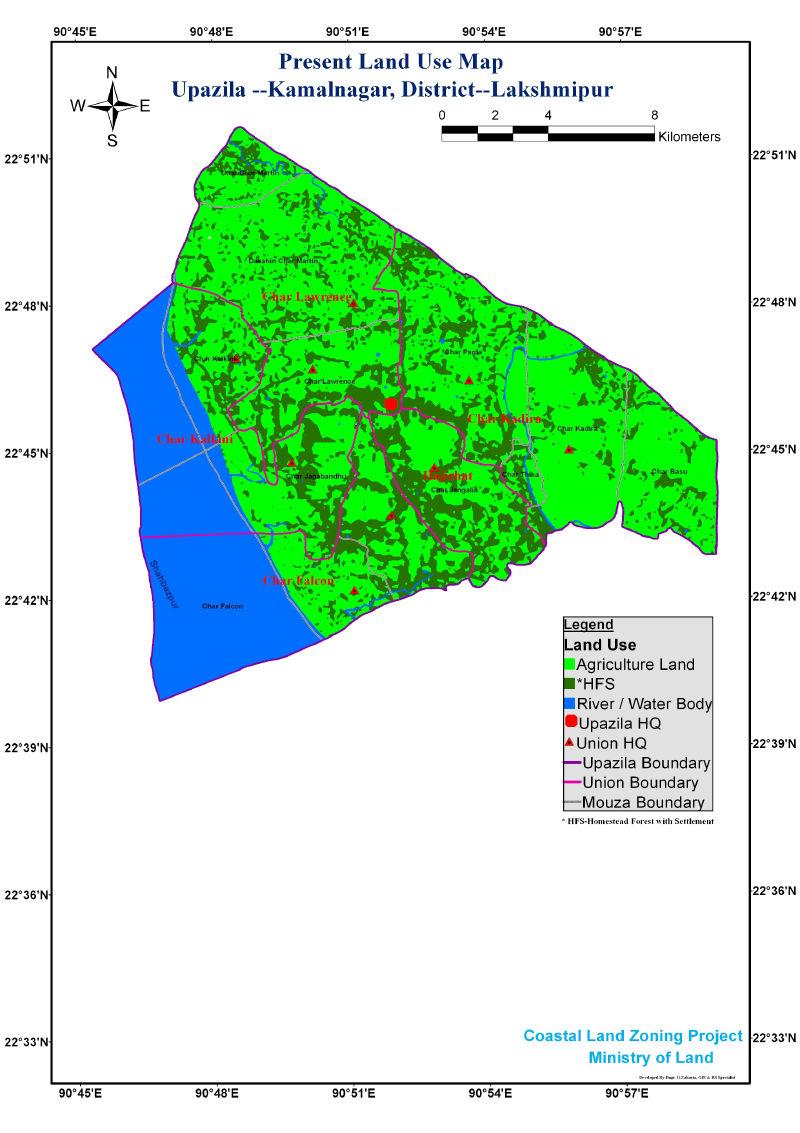 Kamalnagar Upazila Mouza Map Lakshmipur District Bangladesh