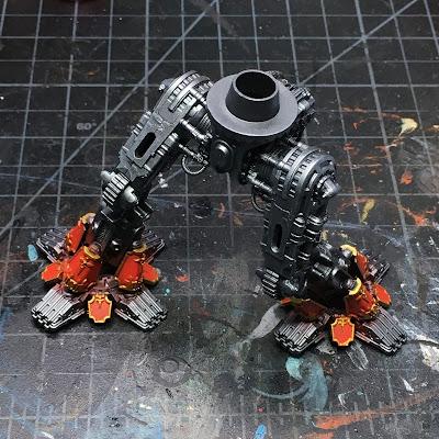 Adeptus Titanicus Legio Ignatum Warlord Titan WIP - legs