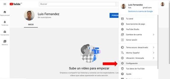 administracion de canales de youtube