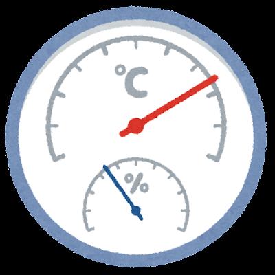 温度計・湿度計のイラスト
