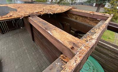 Altes Dach undicht