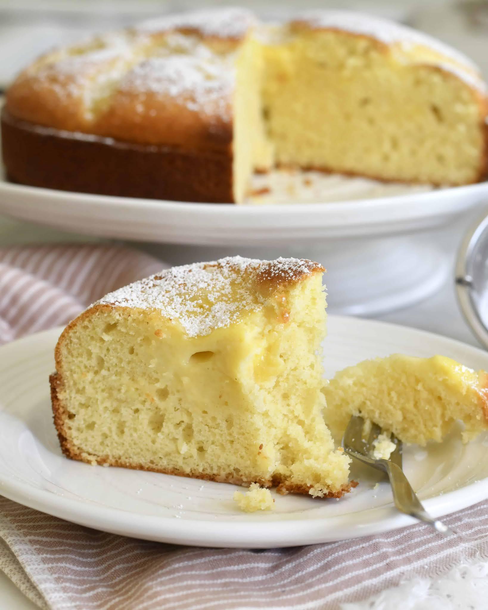 Italian Cake with custard cream