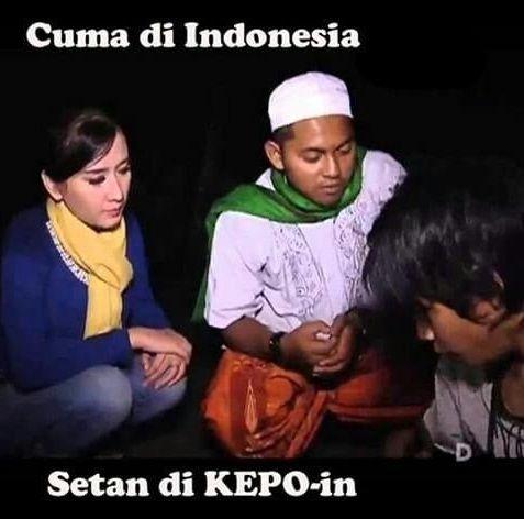 Cuma di Indonesia, Setan dikepoin